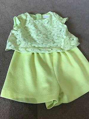 Next Girls Play suit Yellow Aged 3 Years