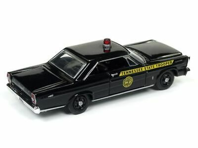 `65 Ford Galaxie POLICE Tennessee  Black 1965 **RR** Racing Champions 1:64 OVP