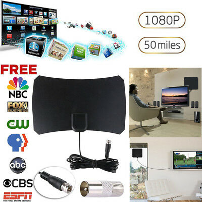 2018 TV&F Connect HD Free TV Fox HDTV DTV VHF Scout Style Antenna 13ft Cable UK