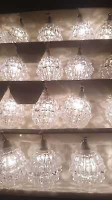 Vint Pifco 20 White Crystal Chandelier Lights@Look@ orig box next day delivery