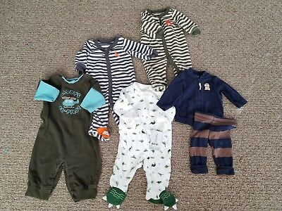 Boys Boy's Carters Gymboree baby infant newborn 0-3 months sleepers outfit lot