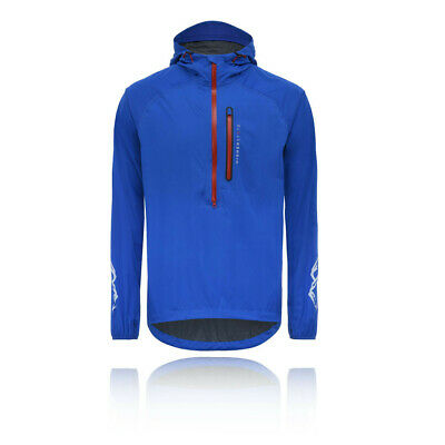 Higher State Mens Stretch Mountain Smock Blue Sports Outdoors Running Half Zip