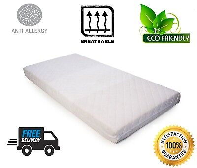 Baby Cot Bed Toddler Breathable Quilted Fiber Mattress Eco-Friendly Cot Crib