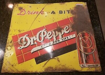 Dr. Pepper DRINK A BITE TO EAT Metal Sign