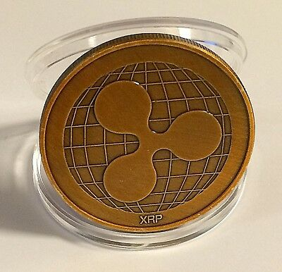 RIPPLE physical novelty Ripple coin in protective acrylic case FAST SHIPPING!!!!