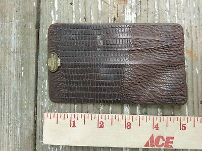 vintage chrysler pinback pocket tool kit alligator crocidile 1954 service