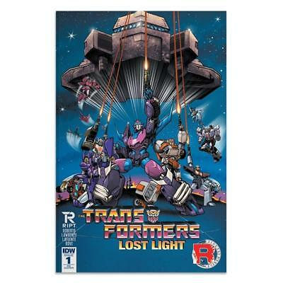 Transformers Lost Light #1 Variant RIPT Apparel Cover IDW 2016 - New/Unread (FN)