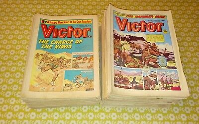 Victor comics x 134 copies from 70s/80s
