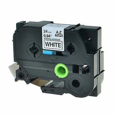 1PK TZ-S251 TZe-S251 Black on White Label Tape For Brother P-Touch PT-9400 1""
