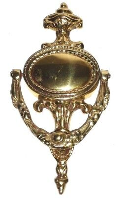 Vintage Solid Brass Door Knocker Ornate Large Heavy 10""