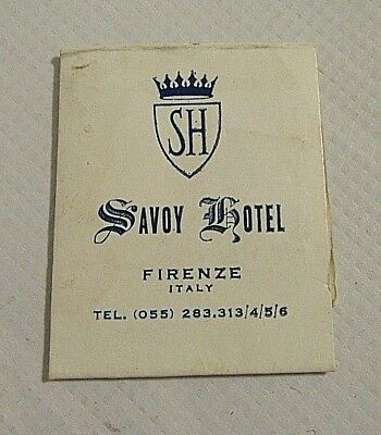 Vintage Savoy Hotel Firenze Italy Advertisement Sewing Kit (SN #36)