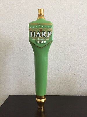 """Harp Premium Imported Lager Beer Tap Handle Green Porcelain-11"""" tall"""