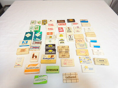 Lot of 54 Different Vintage Hotel Travel Sized Soap Bars