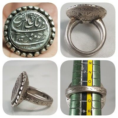 Solid Silver Ancient Islamic Coin Beautiful Unique Ring  # F