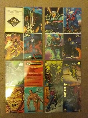 Lot of four uncut (4), 1995 Flair, Marvel, Annual Editions