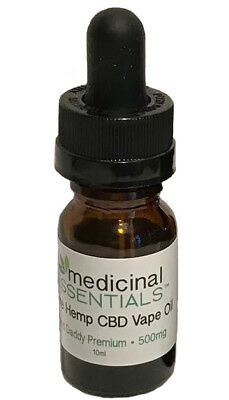 500mg GRAND DADDY CBD Premium Hemp Vape Oil Used for Pain Relief Concentrate