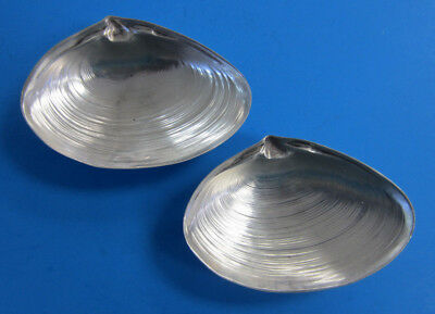 Vintage Sterling Silver Clam Shell Dish #4020 by Wallace  -- Free Shipping *