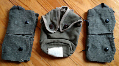 French Indochina canteen bidon cover carrier MAS36 44 rifle pouch Mle 51 TAP set