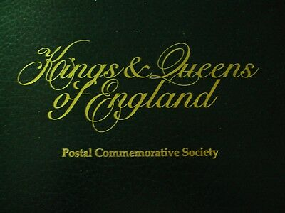 """""""Kings and Queens of England"""" by Postal Commemorative Society STAMP ALBUM"""