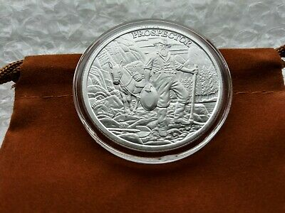 Newly Revised Prospector Silver Round 1 Ounce Of .999 Fine Silver