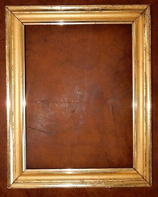 Antique Victorian LEMON Water GILT GOLD Picture FRAME 10 x 13 1/4 in.fit c1860s