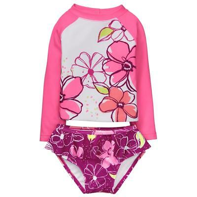 NWT Gymboree Flower Rash Guard swimsuit Toddler Girls UPF 50+ 12/18/24,2T3T4T5T