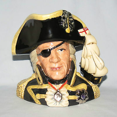 special ROYAL DOULTON VICE ADMIRAL LORD NELSON LARGE SIZE CHARACTER JUG D6932