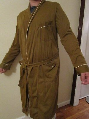 IDLE HOUR ENRO Vintage 1930s 30s Deco Mens Smoking Robe Hose Coat Loungewear M