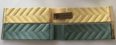 2 Womens Lizard Thick Stretch Belts Yellow & Green One Size One Nwt