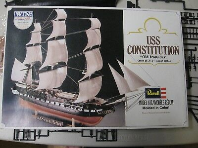 """Two Revell USS Constitution """"Old Ironsides"""" Kits"""
