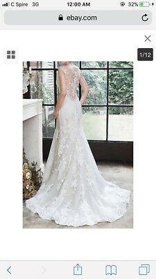 MAGGIE SOTTERO COUTURE NOELLE 5MB657 size 10 -was $1549