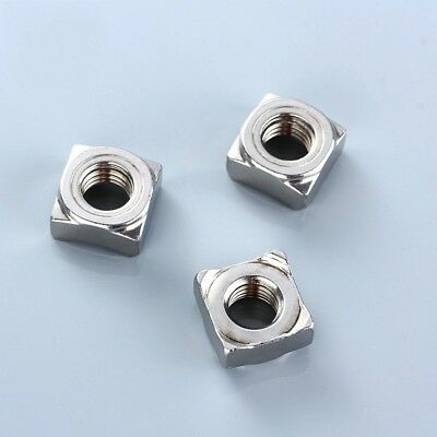 G304 Stainless Steel Square Weld Nuts For Metric Coarse BoltsScrews M4M5M6M8M10