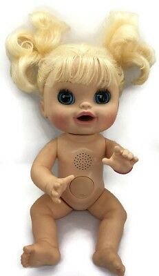 Baby Alive 2012 Real Surprises Interactive Blonde Doll FOR REPAIR OR PARTS ONLY