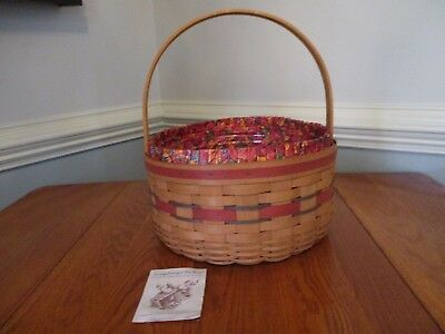 Longaberger 1989 Basket of Plenty or All American Quilting Sewing Basket Combo