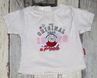 ~ Tee-shirt MC blanc imprimé DISNEY Winnie fille 6 mois ~