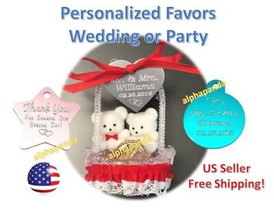 20pc Customized Personalized Engraved Wedding Engagement Party Favors Gifts Tags