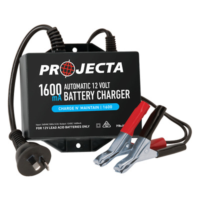 PROJECTA Automatic 12V 1600mA 2 Stage Battery Charger Charge'n'MaintainP# AC250B