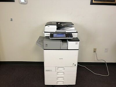 Ricoh  MP C2503 Color Copier Machine Network Print Scanner Fax Internal Finisher