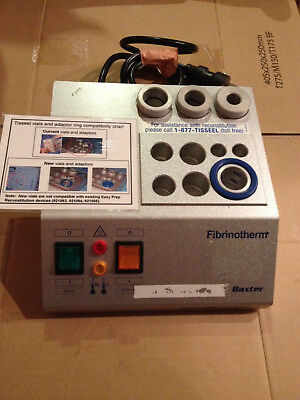 Baxter Fibrinotherm Device Warmer Stirrer with Adapter rings for Lab