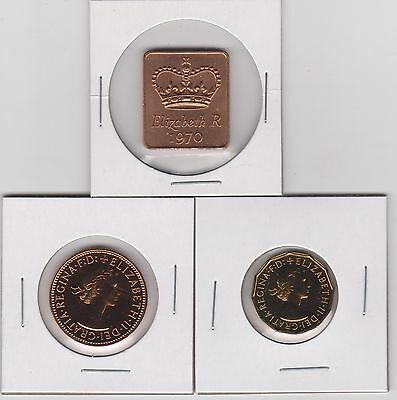 1970 Great Britain - Proof Coin Set ~ Last Year Minted ~ FREE SHIPPING