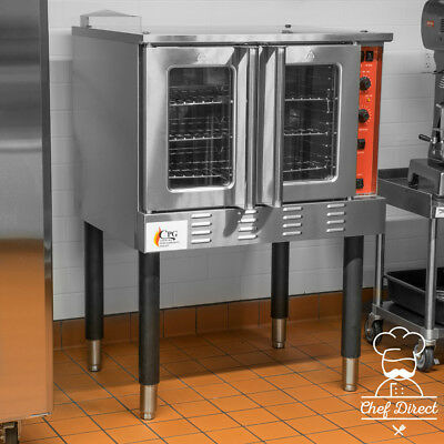 New 54,000 BTU Single Deck Full Size Liquid Propane Convection Oven with Legs