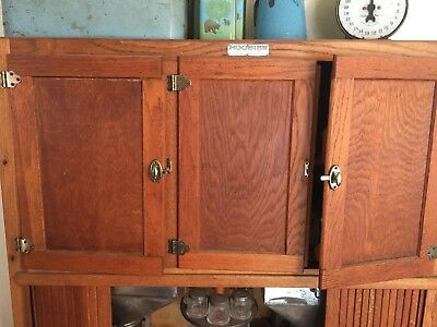 Hoosier brand Antique Oak Kitchen Cabinet (authentic) loaded with many features