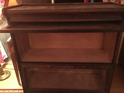 Vintage/antique stackable lawyer type sectional wood bookcases
