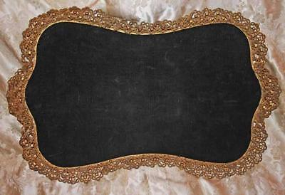Beeautiful Vintage Large Dresser Tray Ornate Gold Floral Edge Display Tray