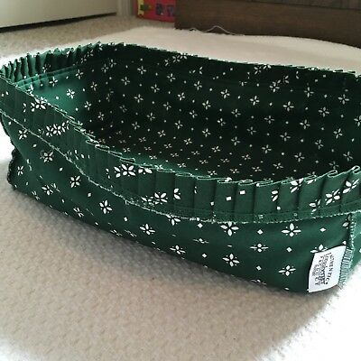 Longaberger Pantry Basket Stand-Up Fabric Liner in Traditional Heritage Green
