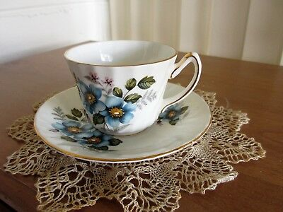 Vintage Royal Kendall Fine Bone China  England Teacup and Saucer
