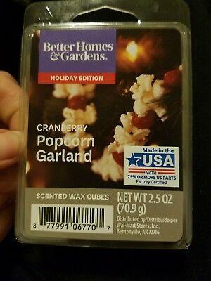 Better Homes & Gardens CRANBERRY POPCORN GARLAND Scented Wax Cube Melts