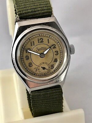 Very Rare Vintage German Military Zentra Classic Suit Watch