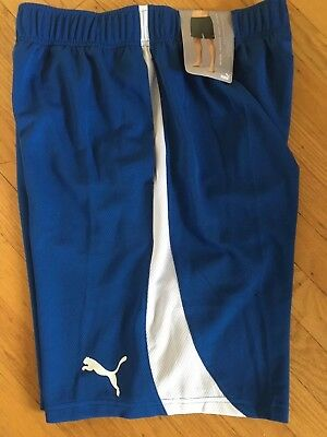Puma Athletic Shorts Size M MWT Royal Blue with Pockets