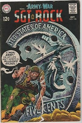 Our Army At War #198 In Very Good 4.0 Condition (Oct, 1968, DC)
